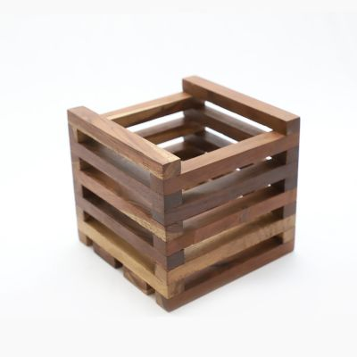 Wooden Pot Stand - Brown( STN-BR-011 )