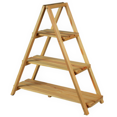 Sharpex Foldable Ladder Shelf Plant Stand 3 Tier Stand Pot Rack