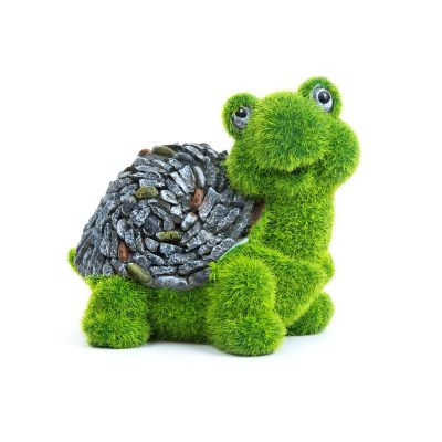 Sharpex baby turtle shape Garden Animal Statue(Artificial Grass)