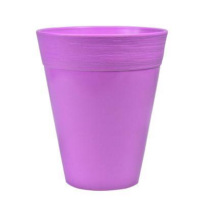 Sharpex Ceramic Style Flower Pot for garden (Purple)