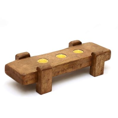 Wooden Candle Stand (ID-BR-004)