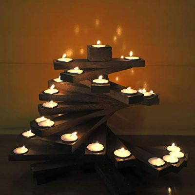 Sharpex Wooden Decorative Candle Holders for Home & Garden Dicor