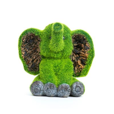 Sharpex baby elephant shape Garden Animal Statue (Artificial Grass)