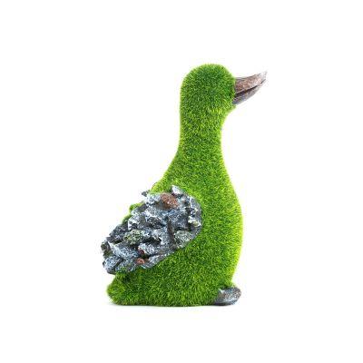 Sharpex baby duck shape Garden Animal Statue (Artificial Grass)