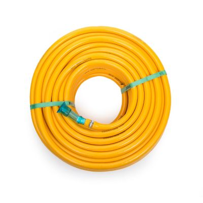 Sharpex Hybrid Heavy Duty Light Weight Garden Hose for Watering and Washing 20MT (yellow)