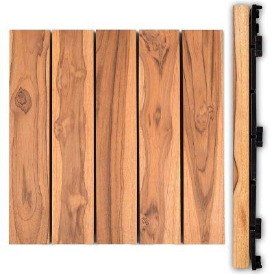 Sharpex Deck Tiles Wooden Water Resistant Flooring Tiles (Set of 10)