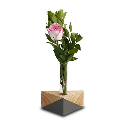 Triangle Test Tube Wooden Plant Stand (ID-BR-008)