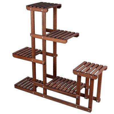 Sharpex Plant Stand Rack 6 Tier Wood rack Storage Rack(brown)