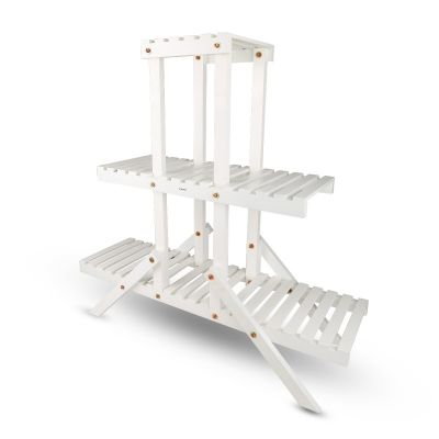 Sharpex Wooden Plant Stand Multi-Shelvings Storage Rack (STN-WH-015)