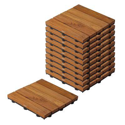 Wooden Deck Tiles  (Set of 10)