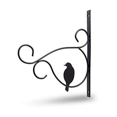 Sharpex Baskets Hanging Wall Bracket with Screws for planter - Black (1 PC)