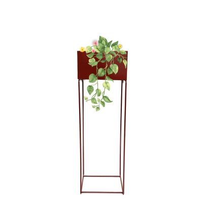 Sharpex Heavy 1 Tier Metal Planter Rack Pot Rack brown