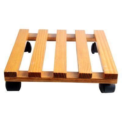 Wood Trolley - Yellow - Set of 4 (CO4-TRL-YL-006)