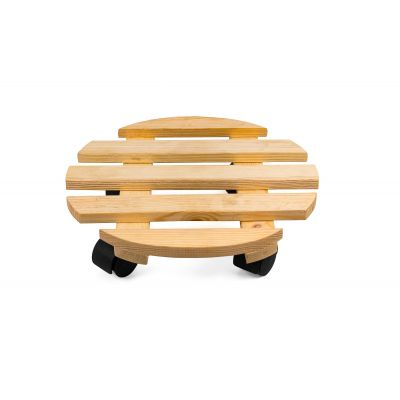 Sharpex Wooden Plant Stand, Trolley Rolling Round Pot Trolley - (Set of 4)