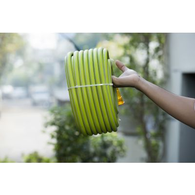 Hybrid Heavy Duty Light Weight Garden Hose/Garden Pipe - 30MT (Green)