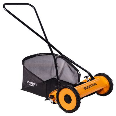 Sharpex Manual Lawn Mower with Grass Catcher High Quality and Durable material 16 inch Lawn Mower