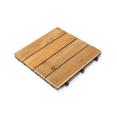 Sharpex Acacia Wood Deck Tiles Pattern Deck Tiles - 10 PC