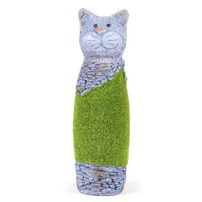 Cat Sculptures Artificial Grass( SCULP-GL-015 )