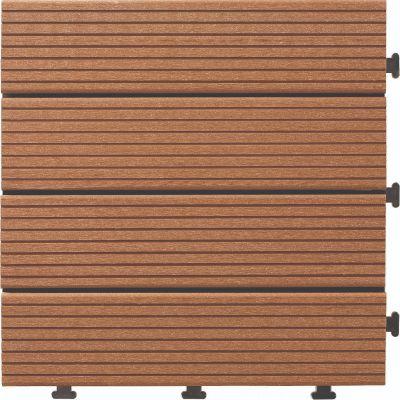 Sharpex Wood and Plastic Material Deck Tiles Flooring Tiles