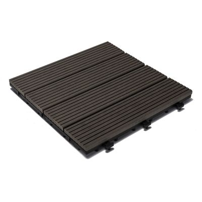 Sharpex Wood and Plastic Material Deck Tiles with Interlocking - 6 PC