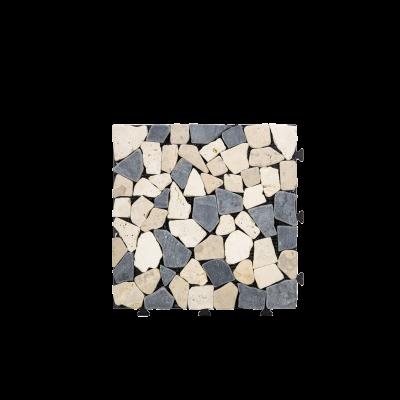 """Stone Deck Tiles, Wooden Water Resistant Flooring Tiles Indoor & Outdoor -12""""×12"""" - 10 PC"""