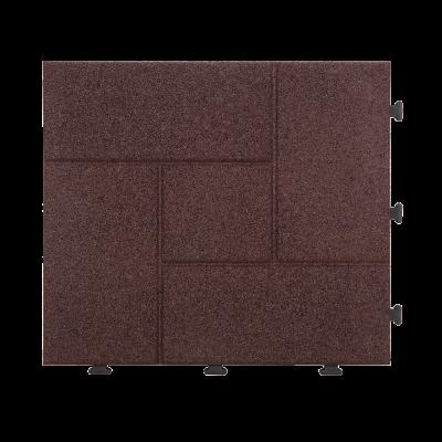 """Rubber Deck Tiles, Flooring Wooden Water Resistant Tiles Indoor Outdoor 12""""×12"""" - 10 PC"""